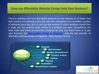How can Affordable Website Design help Your Business?