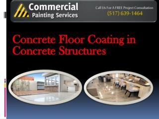 Concrete Floor Coating in Concrete Structures