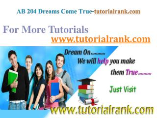 AB 204 Dreams Come True / tutorialrank.com