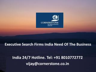 Executive Search Firms India Need of the Business