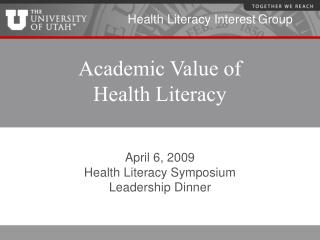 Academic Value of  Health Literacy
