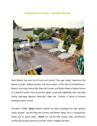 Penthouses in Playa Del Carmen - Vacation Tour