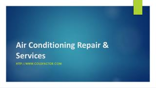 Air Conditioning Repair & Services