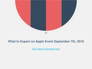 What to Expect on Apple Event September 7th, 2016