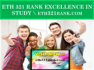 ETH 321 RANK EXCELLENCE IN STUDY \ eth321rank.com