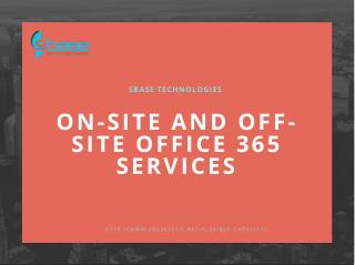 sbase office 365 services