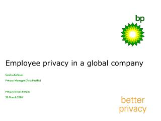 Employee privacy in a global company