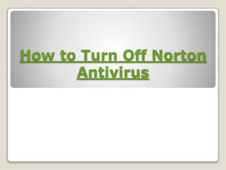 How to Turn Off Norton Antivirus?
