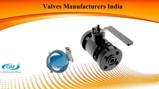 Demand and popular types of industrial valves