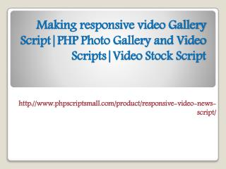 Making responsive video Gallery Script|PHP Photo Gallery and Video Scripts|Video Stock Script