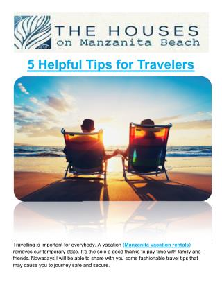5 Helpful Tips for Travelers