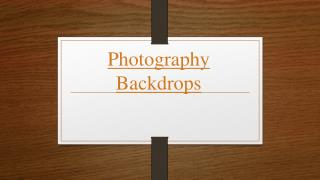 Photography Enhancements using Digital Backdrops