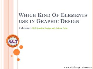 Which Kind Of Elements use in Graphic Design