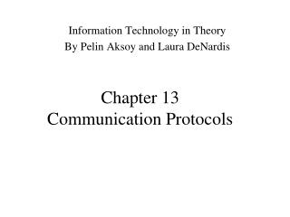 Chapter 13 Communication Protocols