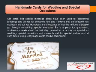 Handmade Cards for Wedding and Special Occasions