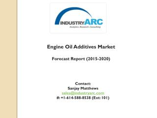 Engine Oil Additives Market: Americas are the leading market through 2020