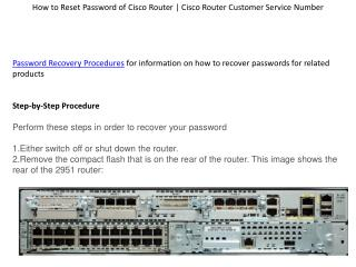 How to Reset Password of Cisco Router | Cisco Router Customer Service Number