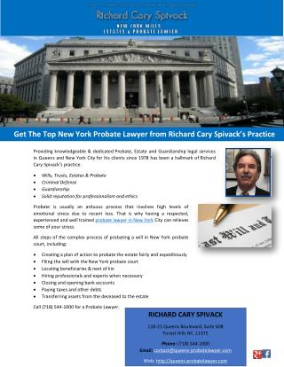 Get The Top New York Probate Lawyer from Richard Cary Spivack's Practice