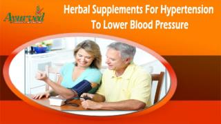 Herbal Supplements For Hypertension To Lower Blood Pressure