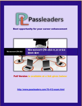 Passleader 70-412 Questions Answers
