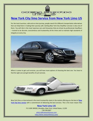 New York City limo Service from New York Limo US