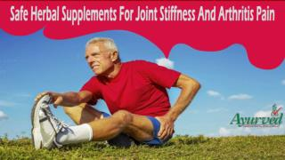 Safe Herbal Supplements For Joint Stiffness And Arthritis Pain