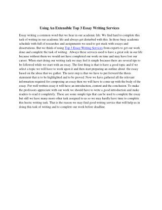 Using an Extensible Top 3 Essay Writing Services