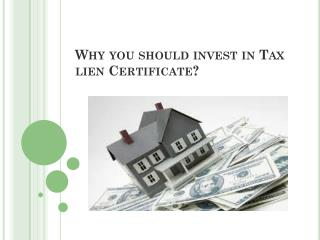 Why you should invest in Tax lien Certificate?
