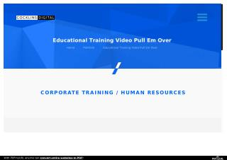 "Educational/Training Video ""Pull 'Em Over""