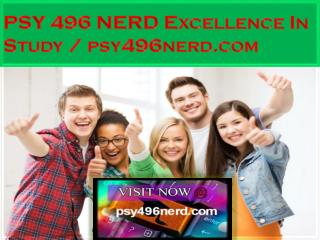 PSY 496 NERD Excellence In Study / psy496nerd.com