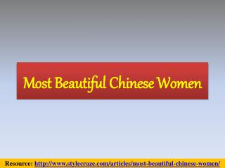 Most Beautiful Chinese Women Pictures 2016