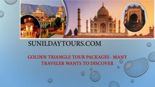 Golden Triangle Tour Packages - Many Traveler Wants to Discover