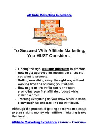 Affiliate Marketing Excellence Review