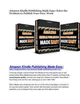 Amazon Kindle Publishing Easy review and $26,900 bonus - AWESOME!