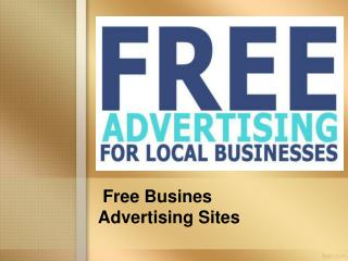 Free Business Advertising Sites