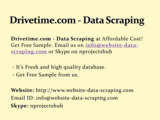 Drivetime.com - Data Scraping
