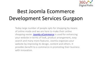 Best Joomla Ecommerce Development Services
