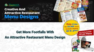 Get More Footfalls With An Attractive Restaurant Menu Design