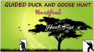 Guided Duck Goose Hunting