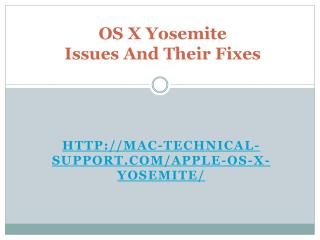 OS X Yosemite Issues And Their Fixes