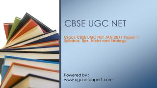 CBSE UGC NET Exam JAN 2017 - National Eligibility Test General Paper Guide