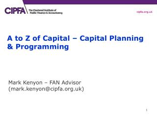 A to Z of Capital – Capital Planning & Programming