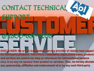 Contact NOw {{1*800*681*7208 }}  AOL ERROR Technical Support Number Helpline