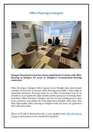 Office Flooring in Glasgow