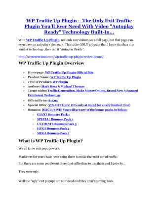 WP Traffic Up Plugin review-- WP Traffic Up Plugin (SECRET) bonuses