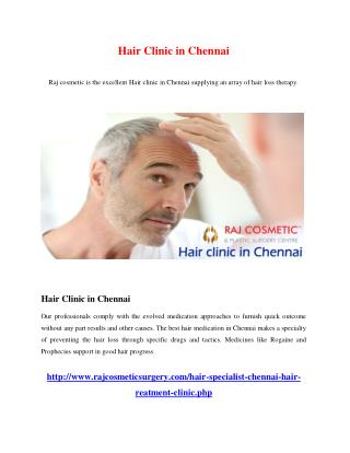 Hair Clinic in Chennai