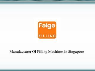 Filling Machines in Singapore