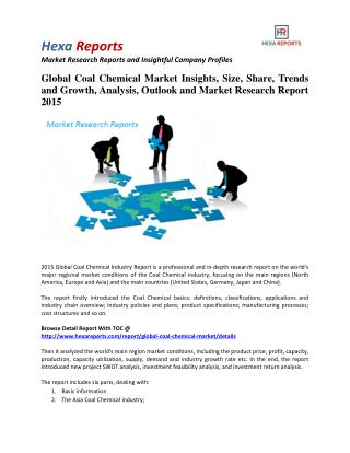 Global Coal Chemical Market Share | 2015 Industry Research Report By Hexa Reports