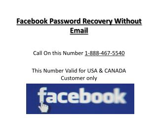 1-(888)-467-(5540) Facebook Password Recovery Without Email Helpline Contact Number
