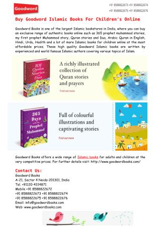 Buy Goodword Islamic Books For Children's Online